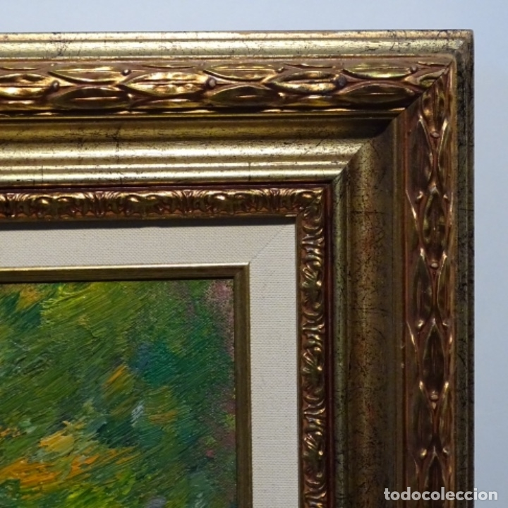 Arte: Oleo sobre tela de Antonio Pineda salmeron(motril1953).tema de otoño.bien enmarcado. - Foto 14 - 178827846