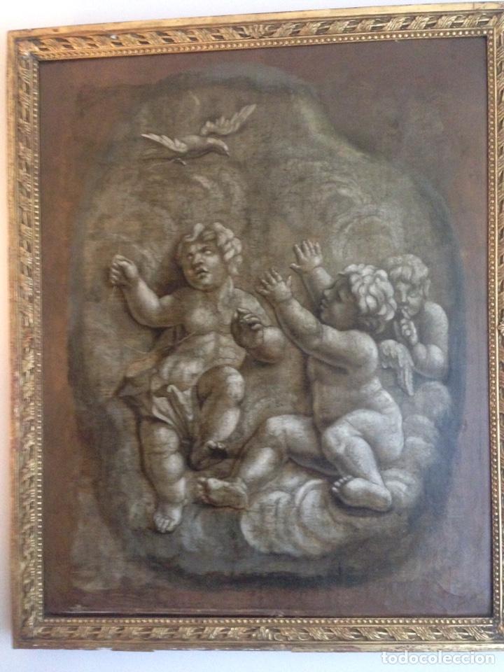 CUADRO ÁNGELES (Arte - Pintura - Pintura al Óleo Antigua sin fecha definida)