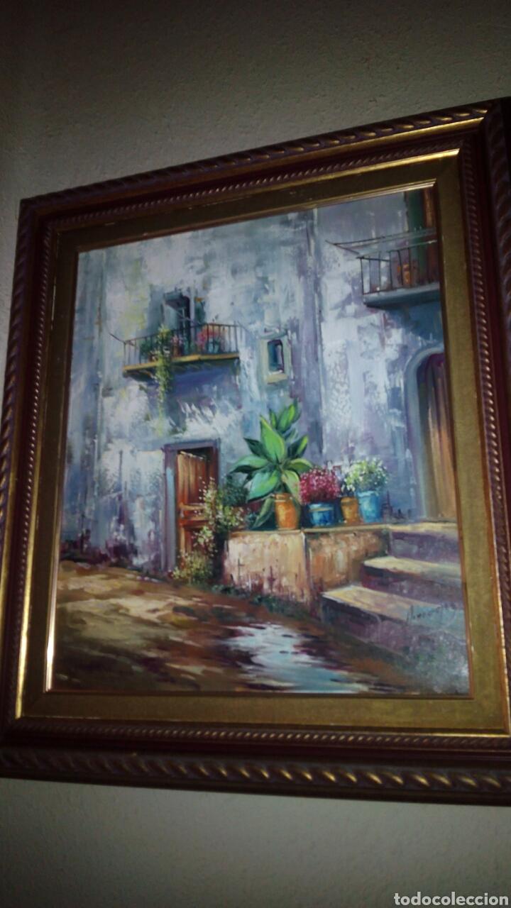 CUADRO OLEO SOBRE LIENZO,PAISAJE, 65X73 CM,FIRMADO (Arte - Pintura - Pintura al Óleo Moderna sin fecha definida)