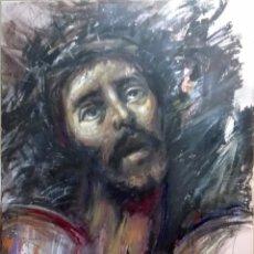 Arte: CRISTO ECCE HOMO, SEMANA SANTA, ÓLEO DEL PINTOR MALAGUEÑO JOSÉ CARLOS CHICA. Lote 178865870