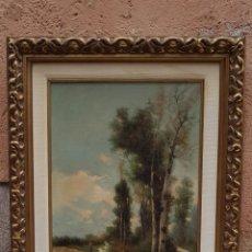 Arte: OLEO SOBRE TELA ,PAISAJE FIRMADO ARANDA SXIX. Lote 178897616