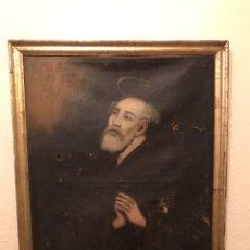 Arte: CUADRO RELIGIOSO PINTURA ÓLEO SIGLO XVII 88CM X 68CM. Lote 178950703