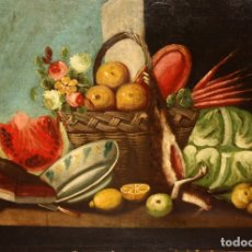 Arte: ESCUELA ESPAÑOLA DEL SIGLO XVIII. OLEO SOBRE TELA DE AUTOR ANONIMO. BODEGON. Lote 178951057