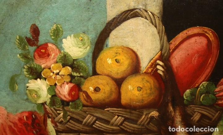 Arte: ESCUELA ESPAÑOLA DEL SIGLO XVIII. OLEO SOBRE TELA DE AUTOR ANONIMO. BODEGON - Foto 3 - 178951057