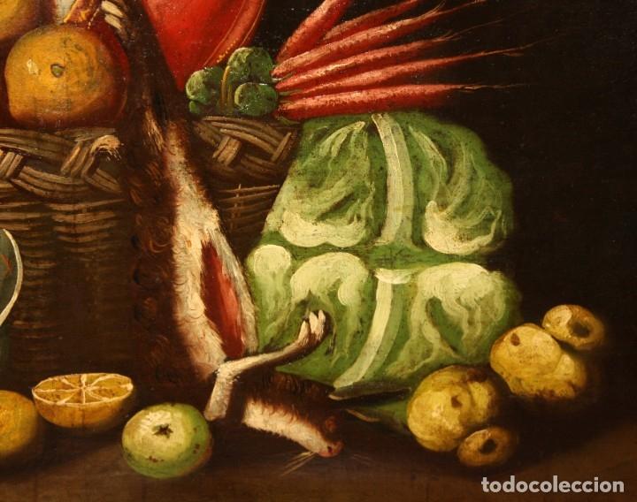 Arte: ESCUELA ESPAÑOLA DEL SIGLO XVIII. OLEO SOBRE TELA DE AUTOR ANONIMO. BODEGON - Foto 4 - 178951057