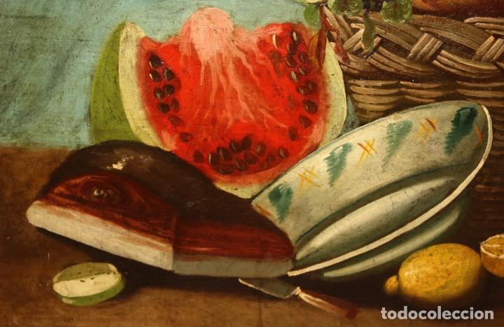 Arte: ESCUELA ESPAÑOLA DEL SIGLO XVIII. OLEO SOBRE TELA DE AUTOR ANONIMO. BODEGON - Foto 5 - 178951057