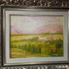 Arte: RAMÓN SANVISENS I MARFULL (BARCELONA, 1917-1987) TELA SOBRE CARTON . Lote 178975262