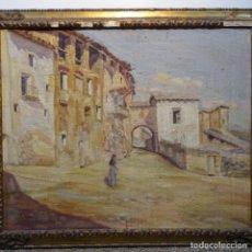 Arte: OLEO SOBRE TELA DE JOSEP SERRASANTA.OTRO DETRÁS.EPOCA TEMPRANA.EXCELENTE TRAZO.. Lote 178987703