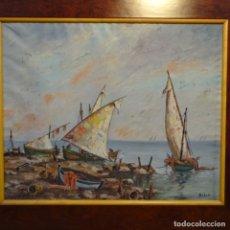 Arte: ÓLEO SOBRE TELA FIRMADO BILSO.BIEN ENMARCADO.. Lote 178988256