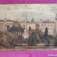 Arte: ÓLEO SOBRE LIENZO PLAZA DE LA LEALTAD DE MADRID 1872 - 1000-017. Lote 43107365