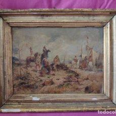 Arte: ÓLEO SOBRE TABLA SOLDADESCA 1851-1914 ANTONIO MESEGUER ALCARAZ - 1000-021. Lote 43107415
