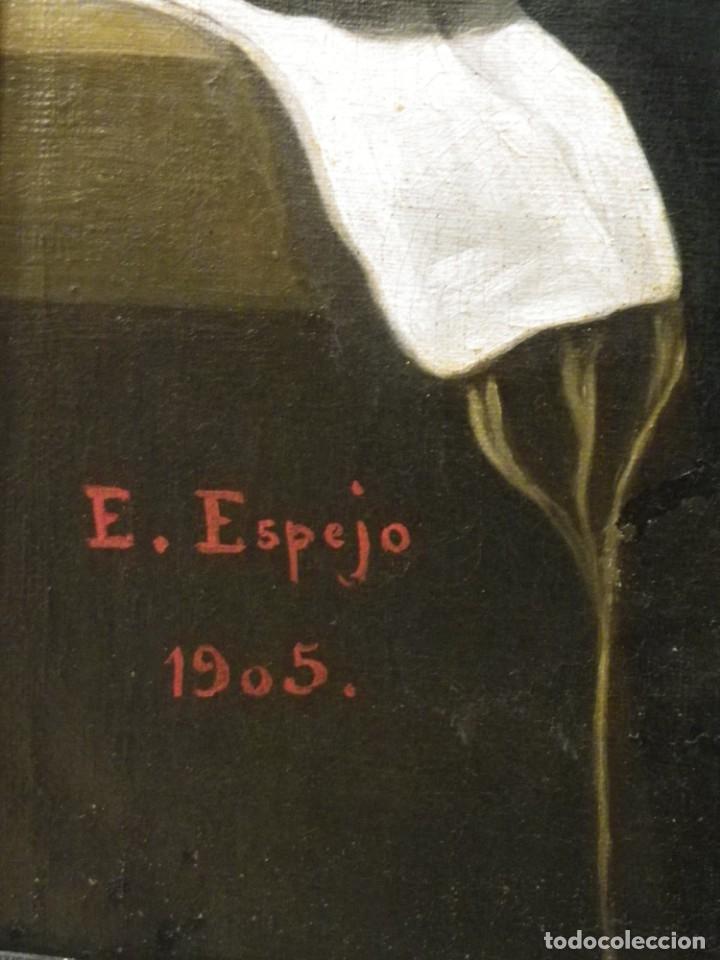 Arte: Virgen de la Faja, copia de Murillo antigua - Foto 8 - 179010072