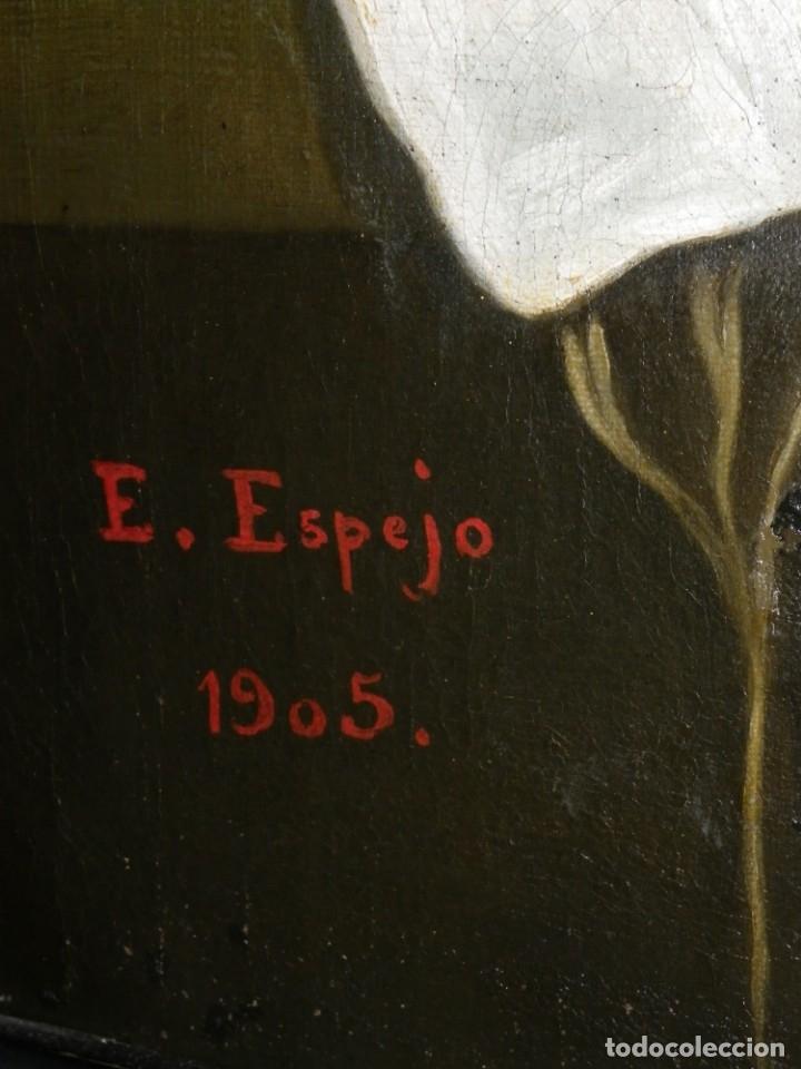 Arte: Virgen de la Faja, copia de Murillo antigua - Foto 9 - 179010072
