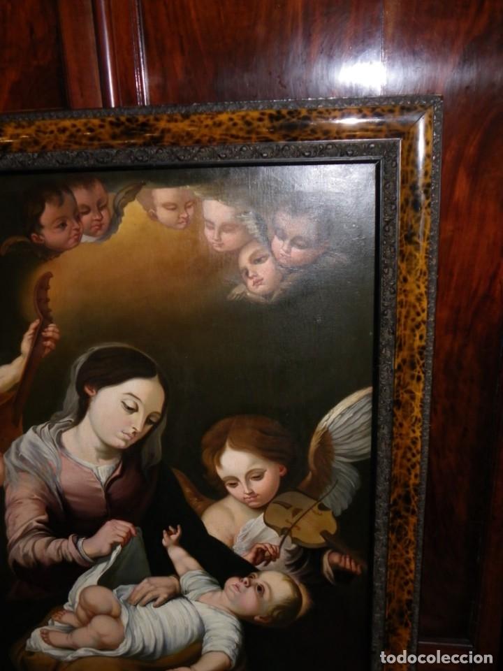 Arte: Virgen de la Faja, copia de Murillo antigua - Foto 10 - 179010072