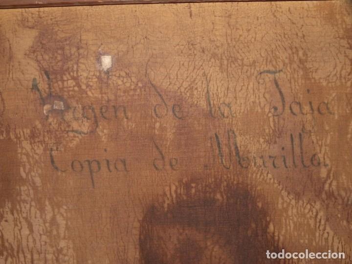 Arte: Virgen de la Faja, copia de Murillo antigua - Foto 12 - 179010072