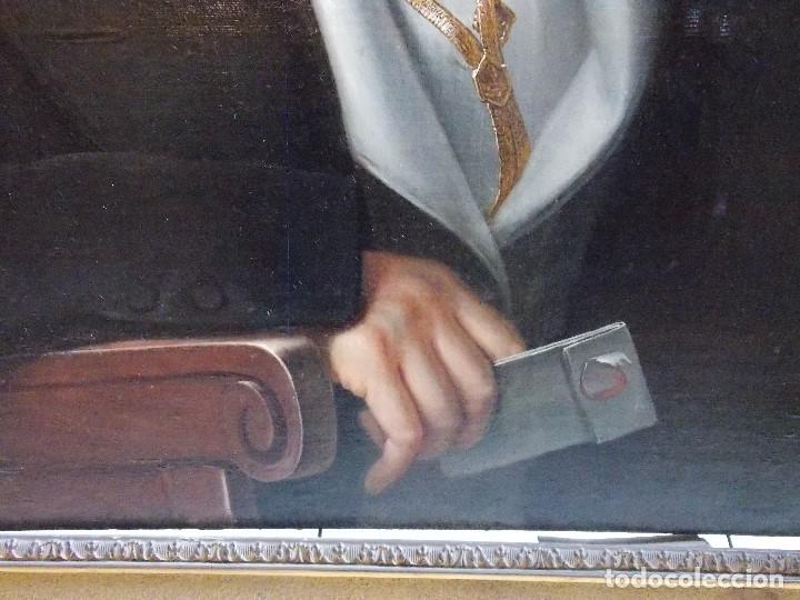 Arte: ANTIGUA PAREJA OLEO SOBRE LIENZO RETRATO DAMA Y CABALLERO SIGLO XIX - Foto 6 - 179018988