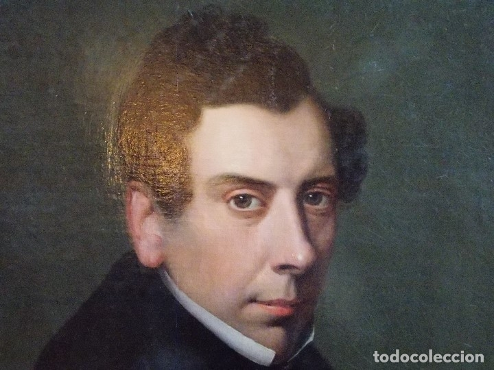 Arte: ANTIGUA PAREJA OLEO SOBRE LIENZO RETRATO DAMA Y CABALLERO SIGLO XIX - Foto 7 - 179018988