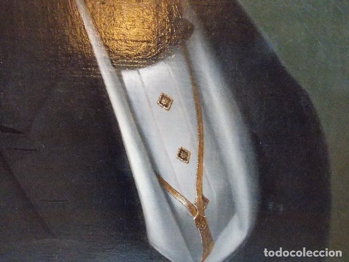 Arte: ANTIGUA PAREJA OLEO SOBRE LIENZO RETRATO DAMA Y CABALLERO SIGLO XIX - Foto 8 - 179018988