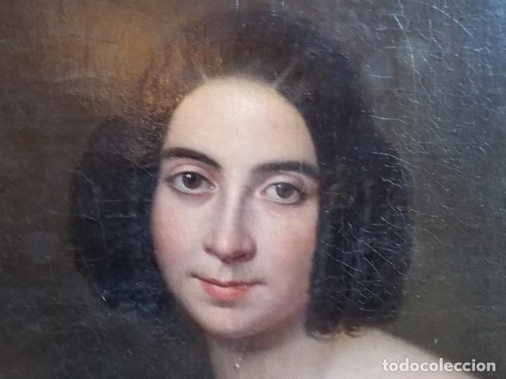 Arte: ANTIGUA PAREJA OLEO SOBRE LIENZO RETRATO DAMA Y CABALLERO SIGLO XIX - Foto 16 - 179018988