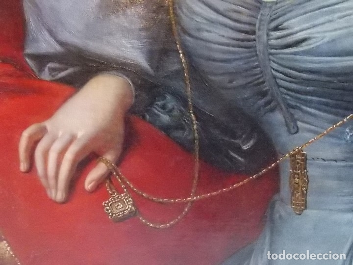 Arte: ANTIGUA PAREJA OLEO SOBRE LIENZO RETRATO DAMA Y CABALLERO SIGLO XIX - Foto 17 - 179018988