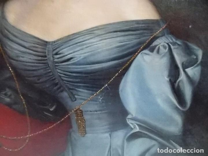 Arte: ANTIGUA PAREJA OLEO SOBRE LIENZO RETRATO DAMA Y CABALLERO SIGLO XIX - Foto 18 - 179018988