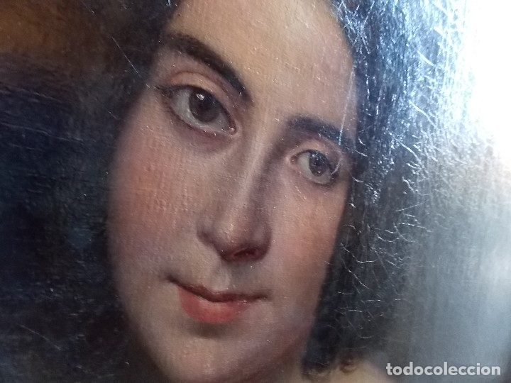 Arte: ANTIGUA PAREJA OLEO SOBRE LIENZO RETRATO DAMA Y CABALLERO SIGLO XIX - Foto 19 - 179018988