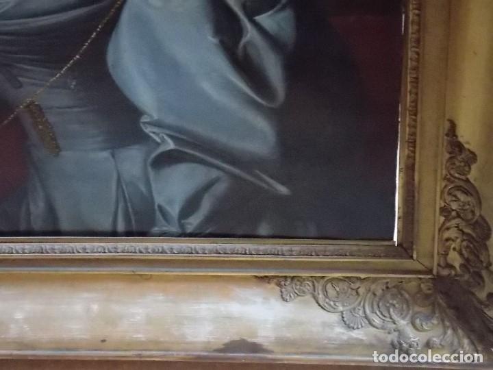 Arte: ANTIGUA PAREJA OLEO SOBRE LIENZO RETRATO DAMA Y CABALLERO SIGLO XIX - Foto 21 - 179018988
