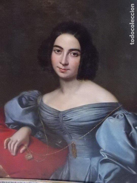 Arte: ANTIGUA PAREJA OLEO SOBRE LIENZO RETRATO DAMA Y CABALLERO SIGLO XIX - Foto 22 - 179018988