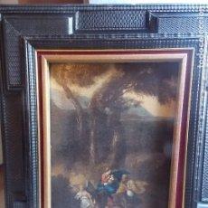 Arte: ANTIGUO OLEO SOBRE LIENZO SIGLO XVII ESCENA EN BOSQUE. Lote 179021552