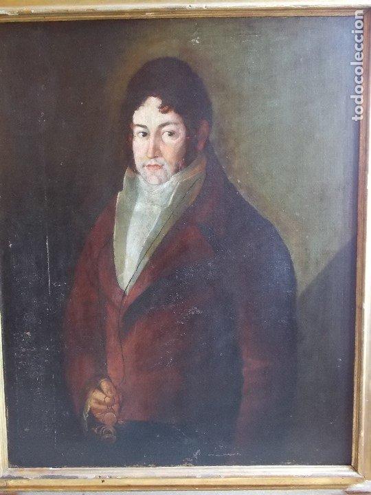 ANTIGUO OLEO SOBRE LIENZO SIGLO XVIII XIX RETRATO (Arte - Pintura - Pintura al Óleo Antigua siglo XVIII)