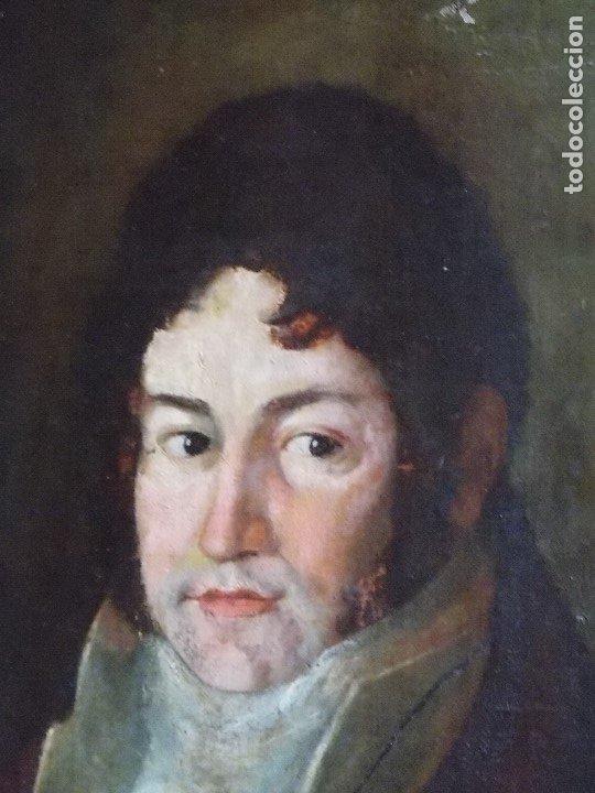 Arte: ANTIGUO OLEO SOBRE LIENZO SIGLO XVIII XIX RETRATO - Foto 2 - 179025121