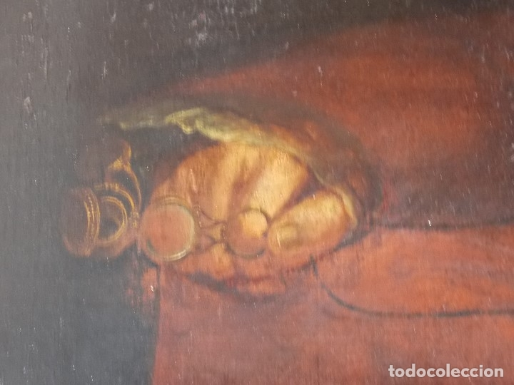 Arte: ANTIGUO OLEO SOBRE LIENZO SIGLO XVIII XIX RETRATO - Foto 3 - 179025121