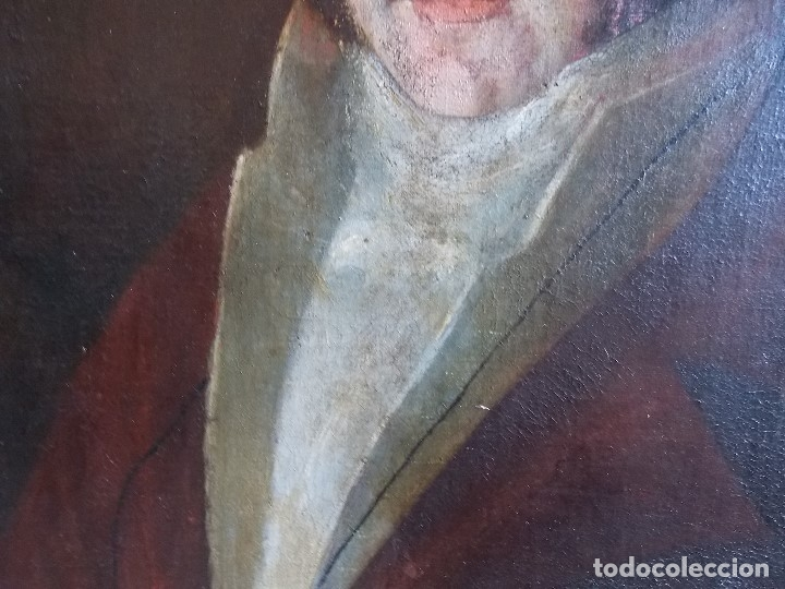 Arte: ANTIGUO OLEO SOBRE LIENZO SIGLO XVIII XIX RETRATO - Foto 5 - 179025121