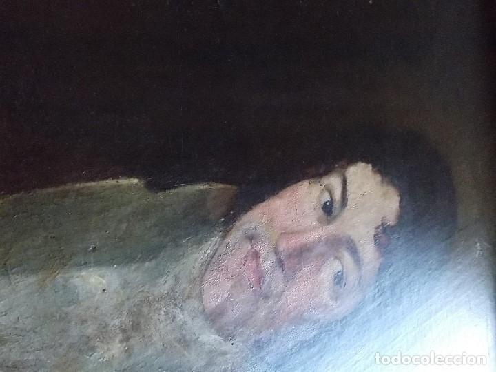 Arte: ANTIGUO OLEO SOBRE LIENZO SIGLO XVIII XIX RETRATO - Foto 6 - 179025121