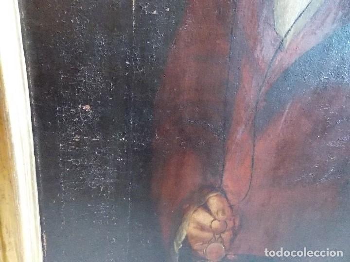 Arte: ANTIGUO OLEO SOBRE LIENZO SIGLO XVIII XIX RETRATO - Foto 7 - 179025121
