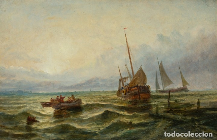 ESCUELA INGLESA. OLEO SOBRE LIENZO. SIGLO XIX (Arte - Pintura - Pintura al Óleo Moderna siglo XIX)