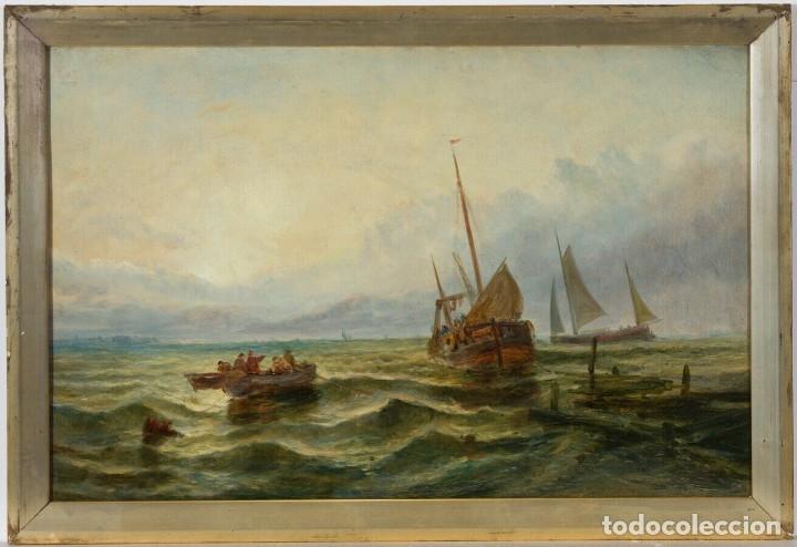 Arte: Escuela Inglesa. Oleo sobre Lienzo. Siglo XIX - Foto 2 - 179042963