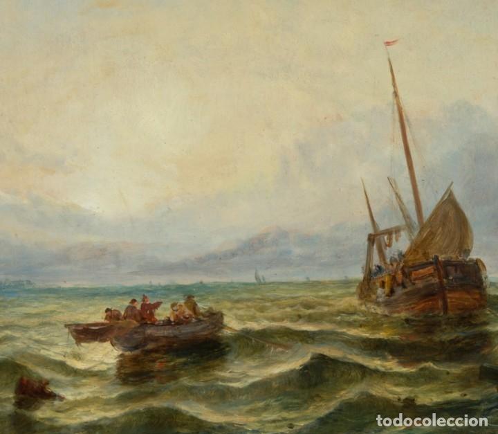 Arte: Escuela Inglesa. Oleo sobre Lienzo. Siglo XIX - Foto 3 - 179042963