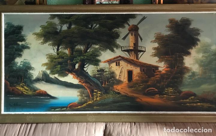 CUADRO ORIGINAL Y FIRMADO DE ÓLEO SOBRE LIENZO GRANDE (Arte - Pintura - Pintura al Óleo Contemporánea )