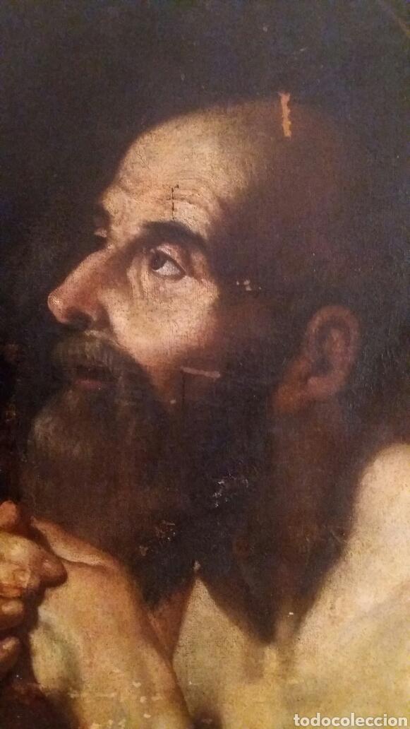 Arte: MARCH, MIGUEL ( VALENCIA CA.1610- 1668): SAN JERÓNIMO PENITENTE - Foto 2 - 191860381