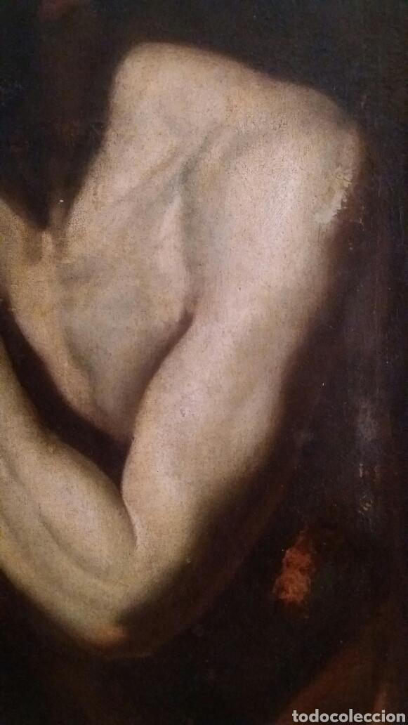 Arte: MARCH, MIGUEL ( VALENCIA CA.1610- 1668): SAN JERÓNIMO PENITENTE - Foto 3 - 191860381