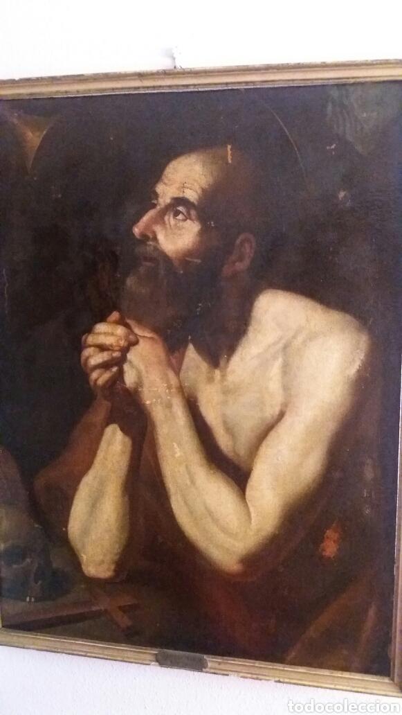 Arte: MARCH, MIGUEL ( VALENCIA CA.1610- 1668): SAN JERÓNIMO PENITENTE - Foto 6 - 191860381