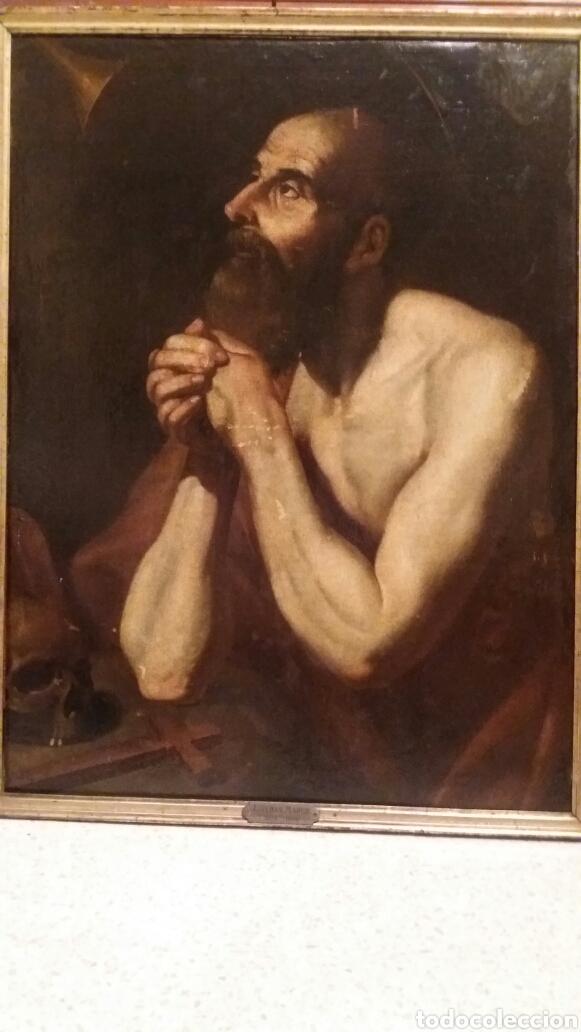 Arte: MARCH, MIGUEL ( VALENCIA CA.1610- 1668): SAN JERÓNIMO PENITENTE - Foto 7 - 191860381