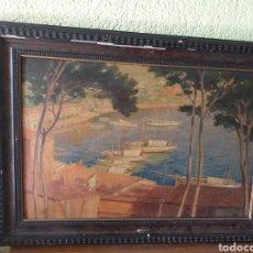 Arte: PRECIOSO CUADRO A.FABREGAT 1946 A MI HERMANO EMILIO. Lote 179083227