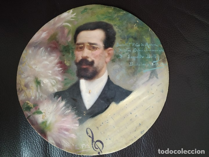 1906 RETRATO DE LEOPOLDO LEOPOLD BOTEY VILA REALIZADO POR EDUARD EDUARDO FLO I GUITART BADALONA (Arte - Pintura - Pintura al Óleo Contemporánea )