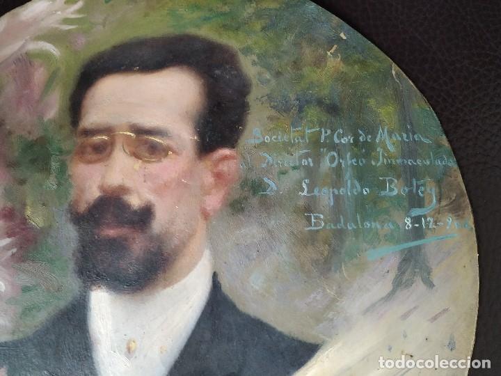 Arte: 1906 RETRATO DE LEOPOLDO LEOPOLD BOTEY VILA REALIZADO POR EDUARD EDUARDO FLO I GUITART BADALONA - Foto 2 - 179099460