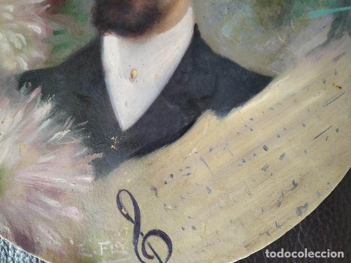 Arte: 1906 RETRATO DE LEOPOLDO LEOPOLD BOTEY VILA REALIZADO POR EDUARD EDUARDO FLO I GUITART BADALONA - Foto 3 - 179099460