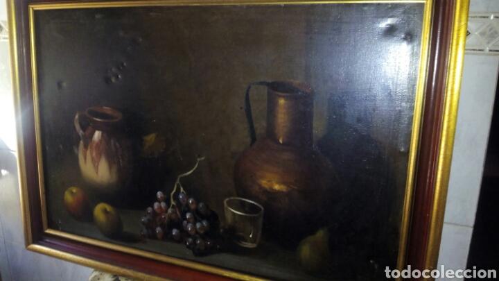 Arte: Cuadro oleo sobre lienzo,Bodegon,Firmado - Foto 3 - 179104510