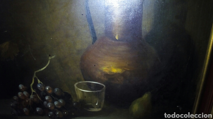 Arte: Cuadro oleo sobre lienzo,Bodegon,Firmado - Foto 4 - 179104510