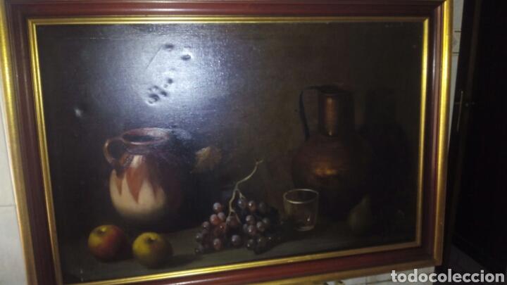 CUADRO OLEO SOBRE LIENZO,BODEGON,FIRMADO (Arte - Pintura - Pintura al Óleo Contemporánea )